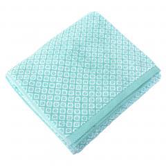 Drap de bain 100x150 cm SHIBORI mosaic Vert 100% coton 500 g/m2