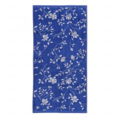 Drap de douche 70x140 cm 100% coton 480 g/m2 FLORAL Bleu