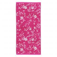 Drap de douche 70x140 cm 100% coton 480 g/m2 FLORAL Rose