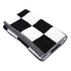 Drap de douche 70x140 cm MONA carreaux blanc & noir 100% coton 480 g/m2