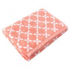 Drap de douche 70x140 cm SHIBORI floral Orange 100% coton 500 g/m2