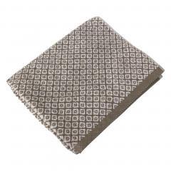 Drap de douche 70x140 cm SHIBORI mosaic Beige 100% coton 500 g/m2