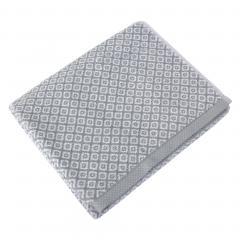 Drap de douche 70x140 cm SHIBORI mosaic Gris 100% coton 500 g/m2