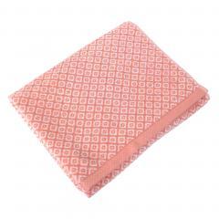 Drap de douche 70x140 cm SHIBORI mosaic Orange 100% coton 500 g/m2