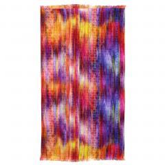Drap de plage Fouta 100x180 cm 100% coton 270 g/m² BIBIONE Cascade multicolore