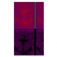 Drap de plage 100x180 cm éponge velours 380 g/m2 DUBA Encre Marine Violet