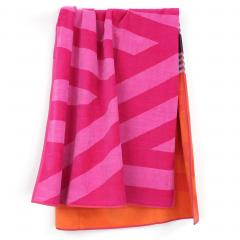 Drap de plage 100x180 cm LINES Orange/Rose