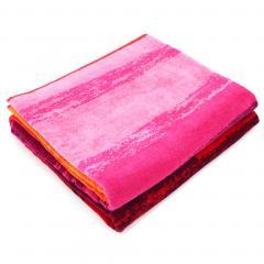 Drap de plage 100x180 cm RIU dégradé de rouge et violet