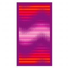 Drap de plage 100x180 cm éponge velours 380 g/m2 SIROLO Vague Violet