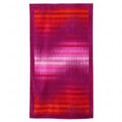 Drap de plage 100x180 cm éponge velours 380 g/m² SIROLO Vague Violet