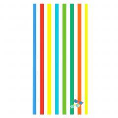Drap de plage 75x150 cm éponge velours 480 g/m2 SALVANO Lunettes arc en ciel Multicolore