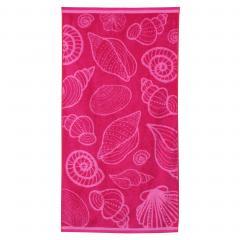 Drap de plage 75x150 cm éponge velours 480 g/m² VASTO Coquillages Rose