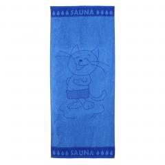 Drap de plage 85x200 cm 480 g/m² KATZE Bleu