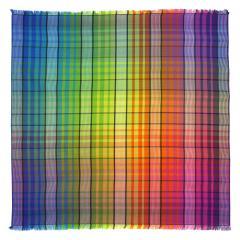 Drap de plage Fouta carrée 180x180 cm 100% coton 290 g/m² MAREMMA Carreaux Multicolore