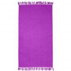 Drap de plage Fouta 100x180 cm 100% coton 340 g/m2 PULA violet motifs cristaux