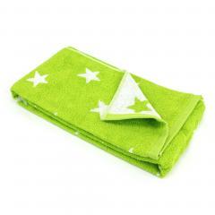 Drap de douche 70x140 cm 100% coton 480 g/m2 STARS Vert