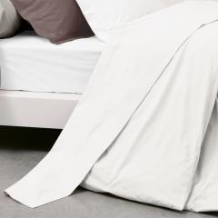 Drap plat uni 180x290 cm 100% coton ALTO Blanc
