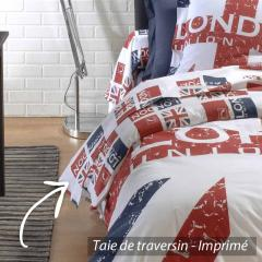Drap plat 180x290 cm 100% coton LONDON Union Jack