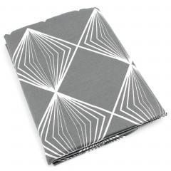 Drap plat 280x310 cm 100% coton FOREVER GRIS gris foncé