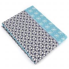 Drap plat 280x310 cm 100% coton RIO JADE bleu