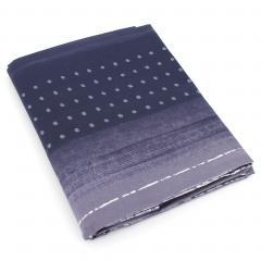 Drap plat 280x325 cm Percale pur coton JAZZ Bleu