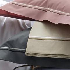 Drap plat 180x290 cm uni Percale pur coton HOTEL DE PARIS Lin