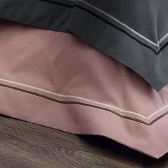 Drap plat 180x290 cm uni Percale pur coton HOTEL DE PARIS Quartz