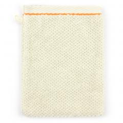 Gant de toilette 16x21 cm 100% coton 500 g/m2 ANITA FLOWER Orange