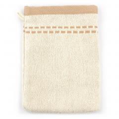 Gant de toilette 16x21 cm EDIPO Marron 500 g/m2 pur coton bio