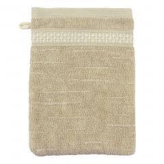 Gant de toilette 16x21 cm FICUS Vert 500 g/m2 pur coton bio