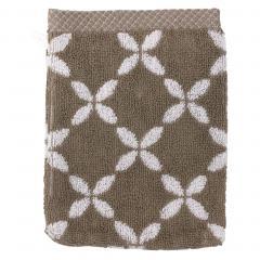 Gant de toilette 16x21 cm SHIBORI floral Beige 500 g/m2