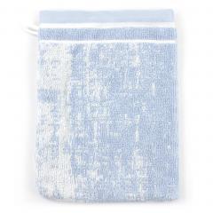 Gant de toilette 16x21 cm 100% coton 500 g/m2 TOSCA CLASSIQUE Bleu