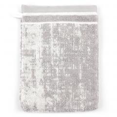 Gant de toilette 16x21 cm 100% coton 500 g/m2 TOSCA CLASSIQUE Gris