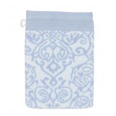 Gant de toilette 16x21 cm BOLERO FLORAL Bleu 520 g/m2