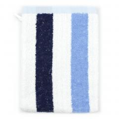 Gant de toilette 16x21 cm 100% coton 480 g/m2 CLASSIC STRIPES Bleu