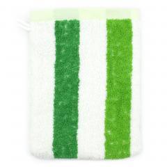 Gant de toilette 16x21 cm 100% coton 480 g/m2 CLASSIC STRIPES Vert