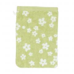 Gant de toilette 16x21 cm 100% coton 520 g/m2 FACILE Vert