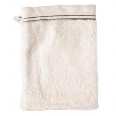 Gant de toilette 16x21 cm JULIET Blanc Crème 520 g/m2