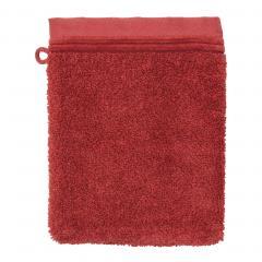 Gant de toilette 16x21 cm JULIET Rouge Terracota 520 g/m2