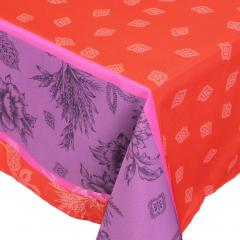 Nappe rectangle 150x250 cm imprimée 100% polyester GARRIGUE Florale rouge Carmin