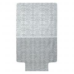 Housse de couette 140x200 cm Percale pur coton AMBOISE Gris