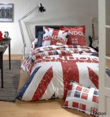 Housse de couette 140x200 cm 100% coton LONDON Union Jack
