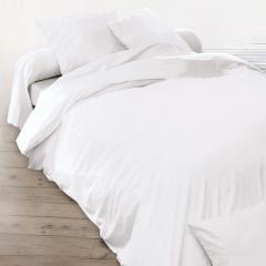 Housse de couette uni 200x200 cm pur percale PRIMO Blanc