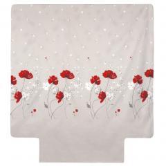 Housse de couette 240x220 cm Percale pur coton CYBELE FLOWERS Ecru
