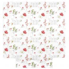 Housse de couette 240x220 cm Percale pur coton PURE NATURE Blanc