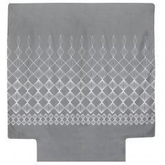 Housse de couette 300x240 cm 100% coton FOREVER GRIS gris foncé