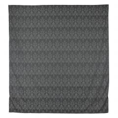 Housse de couette 240x220 cm Satin de coton VOSGES Gris foncé