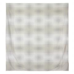 Housse de couette 260x240 cm Satin de coton CONCORDE Gris clair