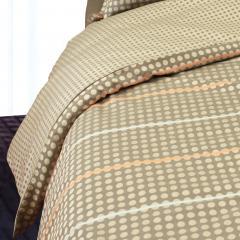 Housse de couette 280x240 cm Satin de coton DAUPHINE Marron
