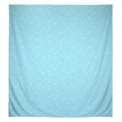 Housse de couette 300x240 cm Satin de coton PANTHEON Bleu clair